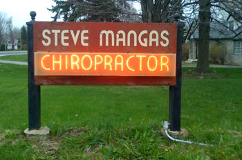 Steve Mangas Office Sign